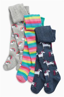 Unicorn Tights Three Pack (0mths-6yrs)