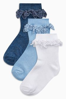 Pretty Ruffle Socks Three Pack (Younger Girls)