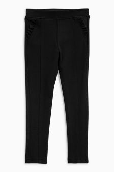 Frill Pocket Ponte Stretch Trousers (3-16yrs)