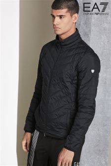 Emporio Armani EA7 Black Shield Light Down Hooded Jacket