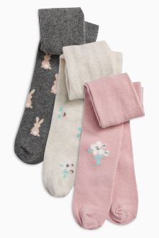 Floral Tights Three Pack (0mths-2yrs)