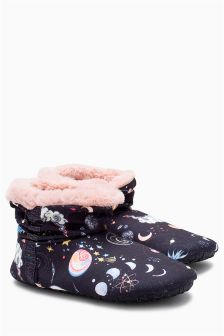 Jersey Snuggle Boot Slippers