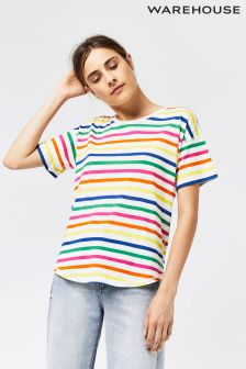 Warehouse White Rainbow T-Shirt