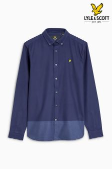 Lyle & Scott Navy Contrast Twill Shirt