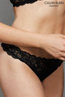 Calvin Klein Black Thong