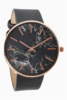 Marble Effect Dial Watch