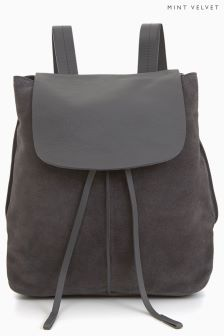 Mint Velvet Suede Leather Backpack