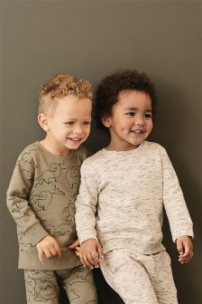 Dino All Over Print Crews Two Pack (3mths-6yrs)