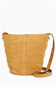 Small Suede Bucket Bag