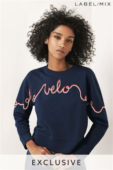 Mix/J.Won Embroidered Velo Sweatshirt