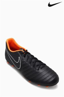 Nike Black/Orange Tiempo Legend Firm Ground