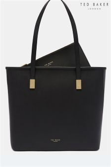 Ted Baker Black Cindeyy Large Leather Shopper Bag