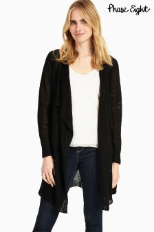 Phase Eight Black Luella Linen Cardi