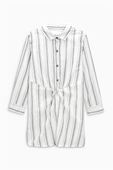 Stripe Knot Front Longline Shirt (3-16yrs)