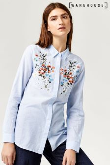 Warehouse Blue Freida Shirt