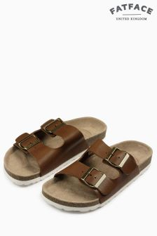 Fat Face Tan Meldon Double Strap Sandal