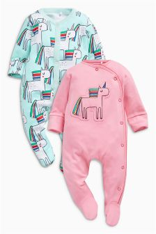 Unicorn Sleepsuits Two Pack (0mths-2yrs)