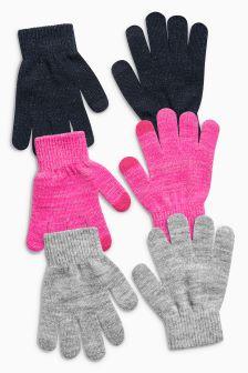 Gloves Three Pack (Older Girls)