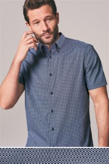 Short Sleeve Double Collar Shirt