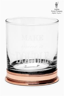 English Pewter Company 11oz Slogan Whisky Tumbler