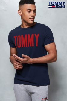 Tommy Hilfiger Denim Blue Logo Tee