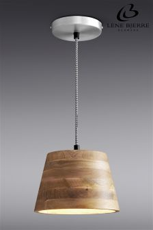 Lene Bjerre Mango Wood Pendant Light