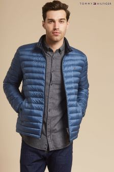 Tommy Hilfiger Blue Packable Down Bomber Jacket