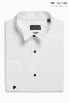 Signature Wing Collar Regular Fit Double Cuff Shirt