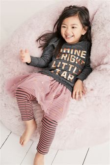 Legging Pyjamas With Detachable Tutu (9mths-8yrs)