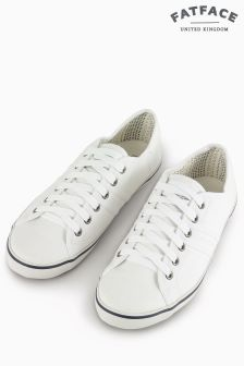Fat Face White Easton Lace Up Trainer