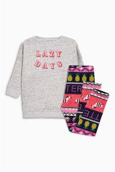 Lazy Days Sweat Pyjamas (3-16yrs)