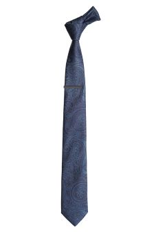 Paisley Tie And Tie Clip