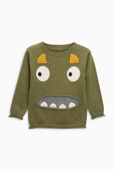 Monster Crew Neck Jumper (3mths-6yrs)