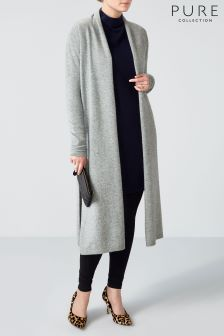 Pure Collection Grey Midi Length Cardigan