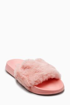 Faux Fur Sliders (Older Girls)