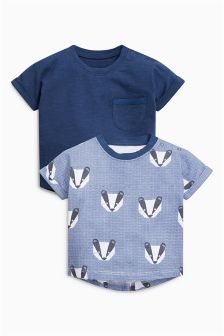 Badger Short Sleeve T-Shirts Two Pack (0mths-2yrs)