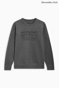Abercrombie & Fitch Grey Logo Crew Sweater