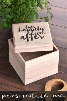 Happily Ever After Personalised Keepsake Box By Letterfest