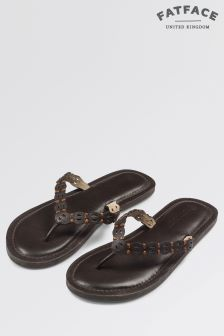Fat Face Brown Friary Flip Flop