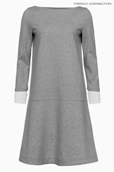 French Connection Grey Heavyweight Jersey Dress