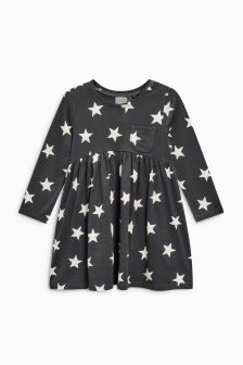 Star Print Long Sleeve Tunic (3mths-6yrs)