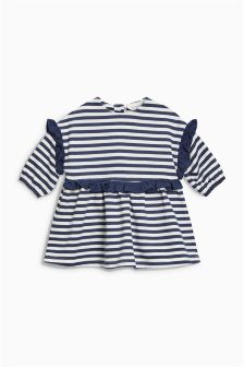 Stripe Frill Jersey Dress (0mths-2yrs)