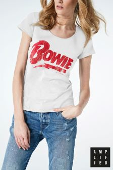 Amplified White David Bowie Band T-Shirt