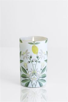 Lemon And Bergamot Pillar Candle