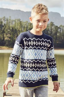 Fairisle Pattern Jumper (3-16yrs)