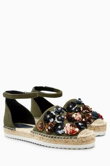 Flower Two Part Espadrilles