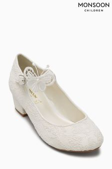 Monsoon Ivory Butterfly And Textured Lace Cha Cha Cha
