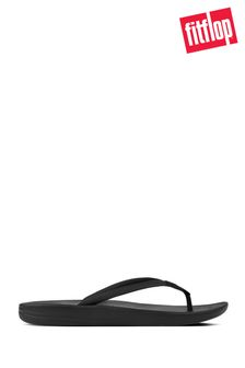 FitFlop™ Black Iqushion Ergonomic Flip Flops