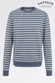 Fat Face Indigo Devon Stripe Crew