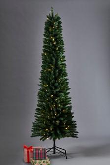 Lit 7ft Slim Pine Christmas Tree